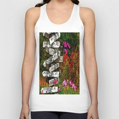 Signpost in the Fall Unisex Tank Top
