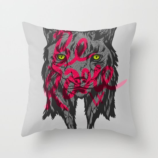 BE RARE TRASH VERSION Throw Pillow