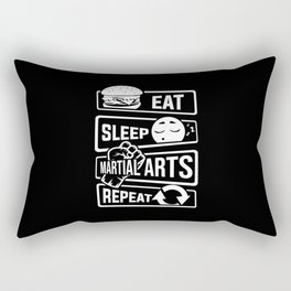 Eat Sleep Martial Arts Repeat - Martial Art Fight Rectangular Pillow