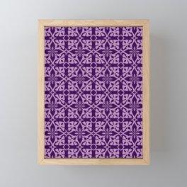 Ethnic tile pattern purple Framed Mini Art Print