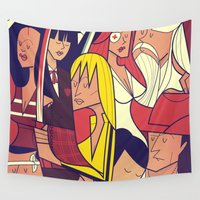bill Wall Tapestries featuring Kill Bill by Ale Giorgini
