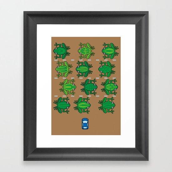 Revenge of the Frogs Framed Art Print