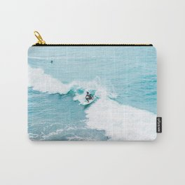Wave Surfer Turquoise Carry-All Pouch