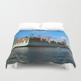 Cosco Cotainer Ship Duvet Cover