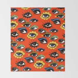 60s Eye Pattern Throw Blanket