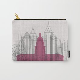 Atlanta Landmarks Poster Carry-All Pouch