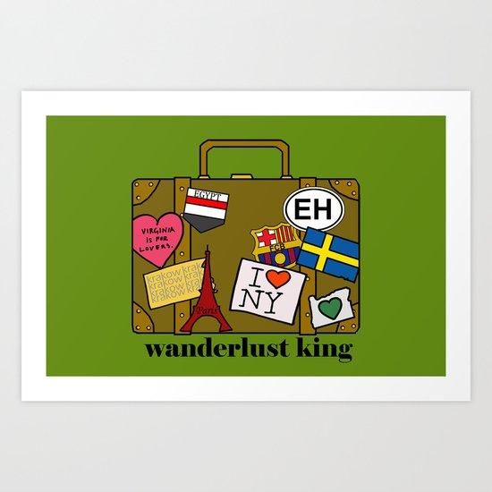 Wanderlust King Art Print