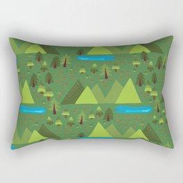 Outdoor Escape Pattern Rectangular Pillow