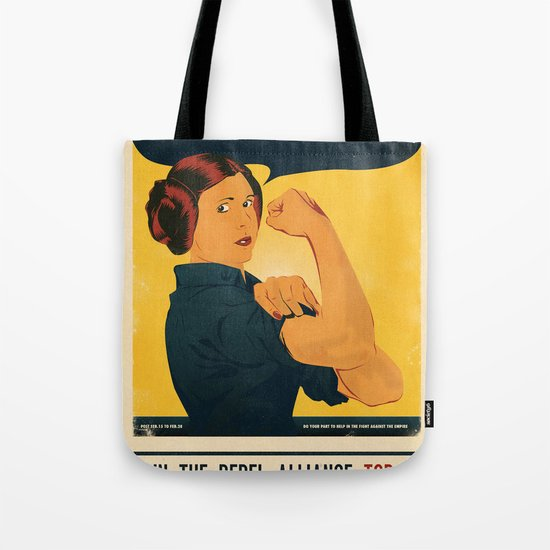 Leia the Riveter 2: The Alliance Strikes Back Tote Bag
