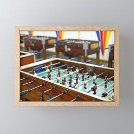Soccer tables Framed Mini Art Print