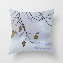 When light is gone Throw Pillow