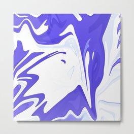 Abstract purple marble pattern Metal Print