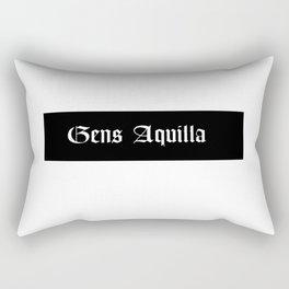 Gens Aquilla White Rectangular Pillow