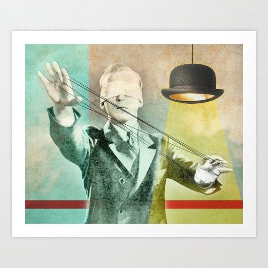 Blindfold bowler Art Print