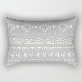 Indigo geometric Rectangular Pillow