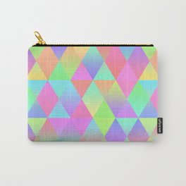 Colorful Geometric Pattern Prism Holographic Foil Triangle Texture Carry-All Pouch