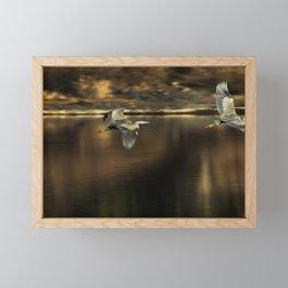 Impressions of a Heron's Flight Framed Mini Art Print