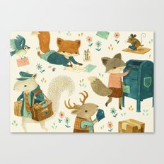 Critter Post Canvas Print