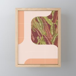 Mid-Century Tropical Way #society6 #tropical Framed Mini Art Print