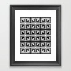 Acropolis 1 Black Framed Art Print