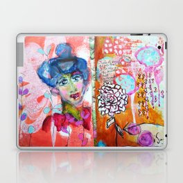 Blue Haired Lady Laptop & iPad Skin