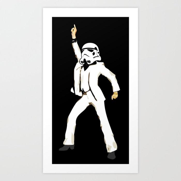 saturday night trooper _ star wars Art Print
