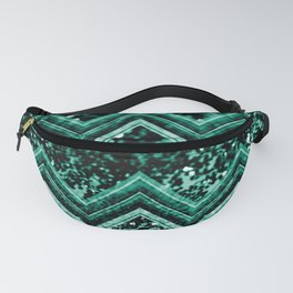 Emerald Glitter Chevron #1 #shiny #decor #art #society6 Fanny Pack