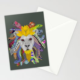 Medusa Lion(ess) Stationery Cards