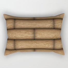 Realistic wood texture Rectangular Pillow