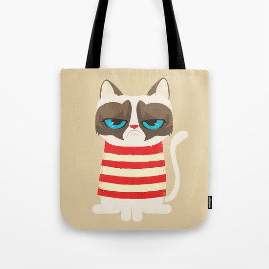 Grumpy meme cat  Tote Bag