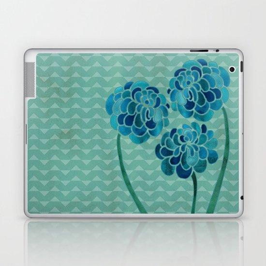 Blue Chrysanthemums Laptop & iPad Skin