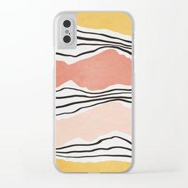 Modern irregular Stripes 01 Clear iPhone Case