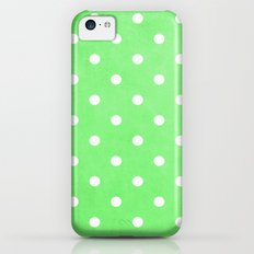 Polka Party Lime Slim Case iPhone 5c