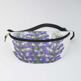 Blue and white lupine flowers Fanny Pack