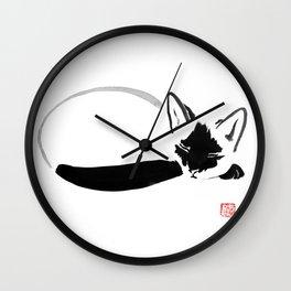 sleeping siamese Wall Clock