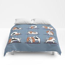 Basset Hound yoga Comforters