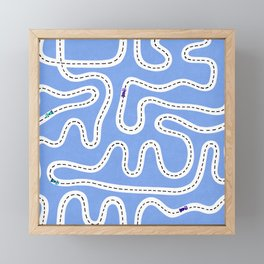 Blue Speed Racers Framed Mini Art Print