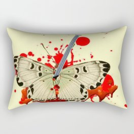 HUMOROUS SURREAL NAILED BLEEDING VAMPIRE BUTTERFLY Rectangular Pillow