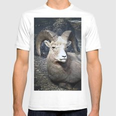 Tom Feiler Mountain Goat Mens Fitted Tee White MEDIUM