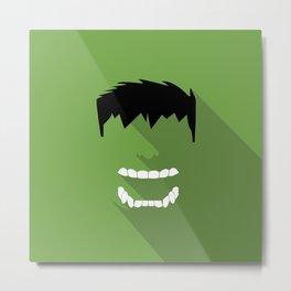 Hulk Flat design Metal Print
