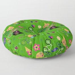 Cycledelic Green Floor Pillow