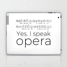 I speak opera (bass) Laptop & iPad Skin