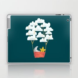 Hot cloud baloon - moon and star Laptop & iPad Skin