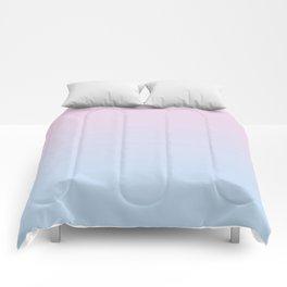 Pastel Ombre Millennial Pink Blue Gradient Pattern Comforters