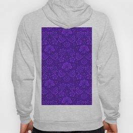 Ultra Violet Floral Pattern Hoody
