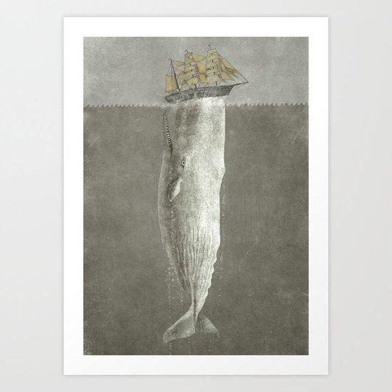 Revenge of The Whale Art Print