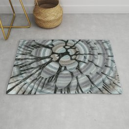 Xeric - Abstract sea colored pebbles X of Alphabet collection Rug