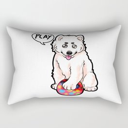 Baby Samojede Dog Doggie Puppy Dogs Owner Present Rectangular Pillow