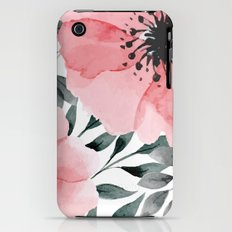 Big Watercolor Flowers Slim Case iPhone (3g, 3gs)