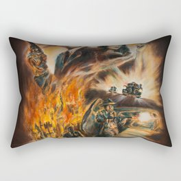 Burning targets Rectangular Pillow